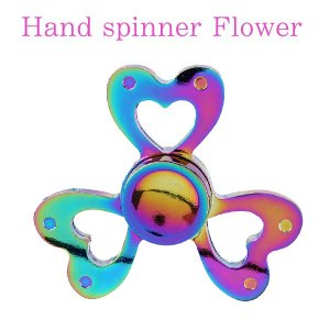 ハンドスピナー Hand Spinner フィンガースピナー ハート レインボー かわいい|utsunomiyahonpo