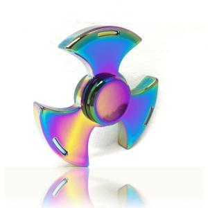 ハンドスピナー Hand Spinner フィンガースピナー 扇 レインボー 合金 チタン製|utsunomiyahonpo