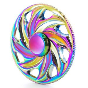 ハンドスピナー Hand Spinner フィンガースピナー 七色の車輪 合金 チタン製|utsunomiyahonpo