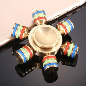 ハンドスピナー Hand Spinner フィンガースピナー 真鍮 6ピンタイプ 民族 ヒカキン ゴールド チタン 高速回転 高回転|utsunomiyahonpo