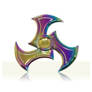 ハンドスピナー Hand Spinner フィンガースピナー 鎌 レインボー 合金 チタン製|utsunomiyahonpo
