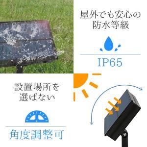 ソーラー イルミネーション スター 星 ストレート LED100球 長さ15m 全3色 リモコン付 屋外用 防水 大型ソーラーパネル 大容量バッテリー|utsunomiyahonpo|10