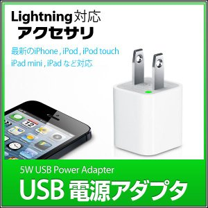 iPhone iPod toch用 5W USB電源アダプタ 充電器  USB AC電源 充電 電源アダプタ スマホ アクセサリー|utsunomiyahonpo