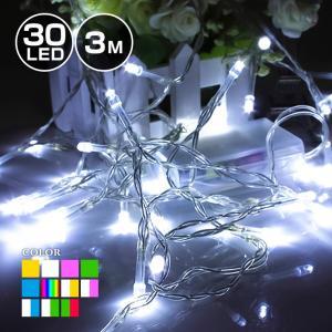 イルミネーション 室内用 ストレート 電池式 LED 30球 3m 全10色 クリスマス ライト ツリー ハロウィン 飾り付け イルミネーションライト おしゃれ かわいい|utsunomiyahonpo