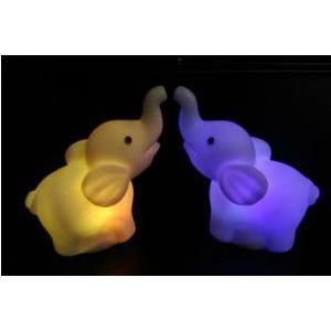 LED インテリア 照明 卓上 ペンギン ゾウ 象 テーブル デスク 寝室 玄関 モチーフ 置物 utsunomiyahonpo