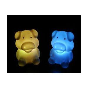 LED インテリア 照明 卓上 ペンギン ブタ 豚 テーブル デスク 寝室 玄関 モチーフ 置物 utsunomiyahonpo
