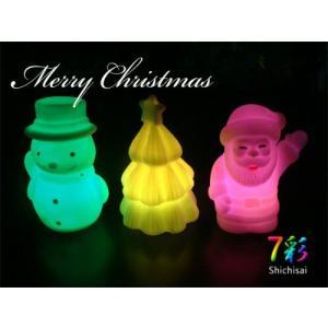 LED インテリア 照明 卓上 ペンギン スノーマン ツリー サンタ 3点セット テーブル デスク 寝室 玄関 モチーフ 置物 utsunomiyahonpo