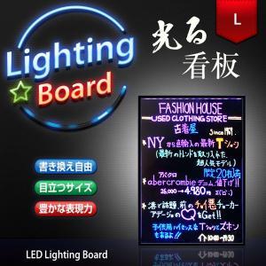 光る看板 電光掲示板 電子看板 600×400 Lサイズ 光る / 看板 / LED / 手書き/ ライティングボード / メッセージボード LED utsunomiyahonpo