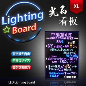 光る看板 電光掲示板 電子看板 700×500 XLサイズ 光る / 看板 / LED / 手書き/ ライティングボード / メッセージボード / サインボード / LED utsunomiyahonpo