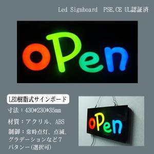 看板 イラスト LED サインボード OPEN 233×433 ポップシンプル 店舗 OPEN 営業中 utsunomiyahonpo