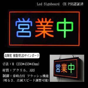 看板 イラスト LED サインボード 営業中 233×433 utsunomiyahonpo