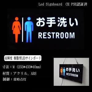 看板 イラスト LED サインボード お手洗いRESTROOM 233×433 店舗 OPEN 営業中 utsunomiyahonpo