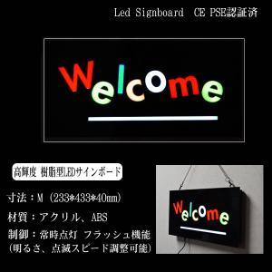 看板 イラスト LED サインボード WELCOME 233×433 Century Gothic風 店舗 OPEN 営業中 utsunomiyahonpo