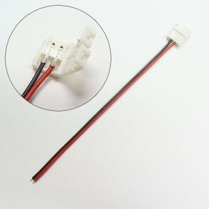 LEDテープ用 3528 smd 単色 延長 ケーブル 導線 コネクタ 半田付け不要 12V 3528smd コネクター|utsunomiyahonpo