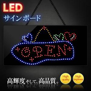 看板 LEDサインボード  オープン OPEN 明朝体デザイン 300mm×600mm 店舗 OPEN 営業中|utsunomiyahonpo