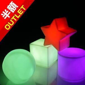 【アウトレット】LED インテリア 電池式 グラデーション点灯 スター ボール スクエア デスクライト utsunomiyahonpo