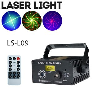 ステージライト 舞台照明 レーザービーム ライト LS-L09 RG+B(LED) 3色 レインボー スポットライト|utsunomiyahonpo