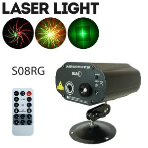 ステージライト 舞台照明 レーザービーム ライト LS-S08RG リモコン付き|utsunomiyahonpo