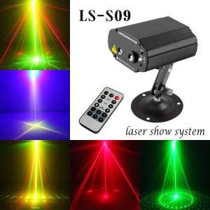 ステージライト 舞台照明 レーザービーム ライト LS-S09 RG+B(LED) 三色 レインボー スポットライト|utsunomiyahonpo