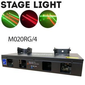 舞台照明 M020RG4 レーザーライト レッド/グリーン コンセント式 屋内用 DMX対応 ステージ ライト サウンドモード搭載 演出 効果 カラオケ|utsunomiyahonpo
