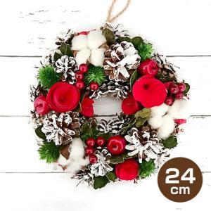 クリスマス リース ナチュラル素材 24cm 吊り下げタイプ かわいい 玄関飾り|utsunomiyahonpo