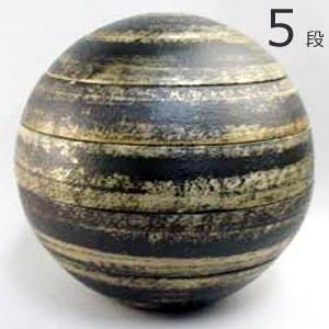 有田焼 李荘窯 珠型五段重 黒塗銀彩拭き漆