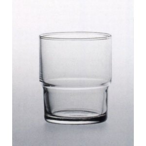 スタック機能重視、お冷用グラス。1個あたり\163 サイズ:口径67mm(最大径67mm)×高さ80...