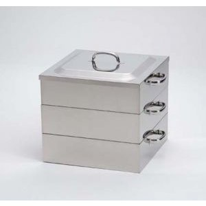 業務用角蒸し器2段33cm・電磁調理器対応|utuwayaissin