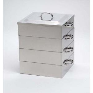 業務用角蒸し器3段42cm・電磁調理器対応|utuwayaissin