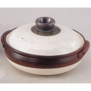 光泉 粉引土鍋(深鍋)12号(超特大・日本製)|utuwayaissin