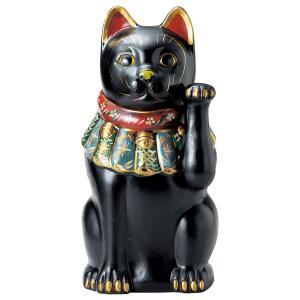 招き猫・古色大正猫 黒17号(左手上げ)|utuwayaissin