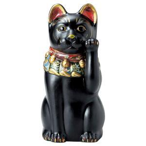 大正ロマンの復刻版、厄除けの黒い猫です。高さ43cm