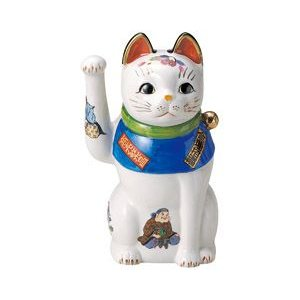 赤絵七福神招き猫 8号(右手上げ) utuwayaissin