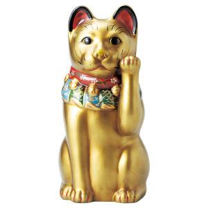 大正ロマンの復刻版、金運招き、成功祈願の黄金の猫です。高さ43cm