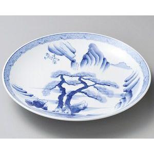 大皿 (盛込皿)・山水絵8号皿(業務用大皿)24cm|utuwayaissin