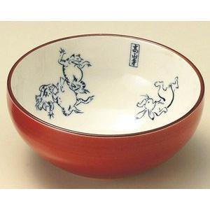 小鉢 鳥獣戯画(赤)小鉢・業務用|utuwayaissin