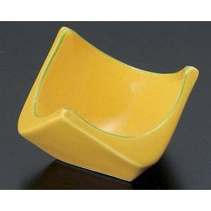 黄釉グリーン線 三角小付|utuwayaissin