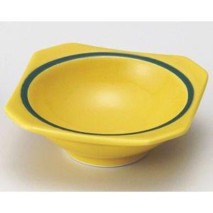黄釉グリーン帯 隅切珍味入れ|utuwayaissin