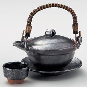 土瓶蒸し 鉄結晶京型(手造り)・日本製土瓶むし(直火可)|utuwayaissin