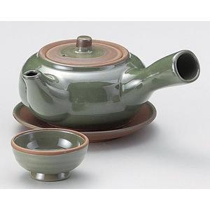 土瓶蒸し グリーン急須型土瓶むし(直火可)|utuwayaissin