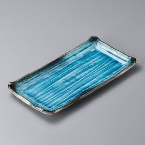 日本製・美濃焼の大皿(盛込み皿)です。外寸42.8cm×21.5cm TRTG