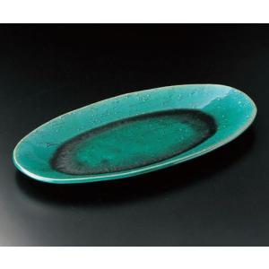 大皿 緑釉16.5楕円皿(信楽焼)|utuwayaissin