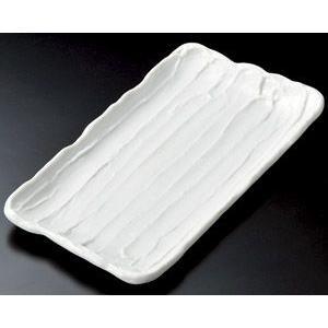 ホッケ皿(ほっけ皿)白荒削ぎ33×18cm業務用|utuwayaissin