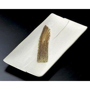 ホッケ皿(ほっけ皿)粉引刷毛長角皿30.2×14.5cm業務用|utuwayaissin