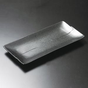 ホッケ皿(ほっけ皿)いぶし黒長角皿30.2×14.5cm業務用|utuwayaissin