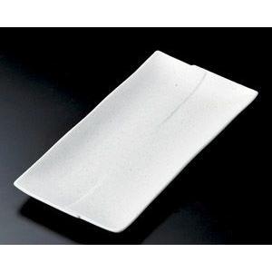 ホッケ皿(ほっけ皿)粉引はんてん長角皿30.2×14.5cm業務用|utuwayaissin
