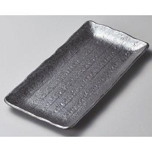 ホッケ皿(ほっけ皿)黒長角33×16.5cm業務用|utuwayaissin