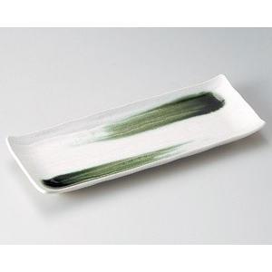 さんま皿 白結晶織部刷毛長角皿27.5×11cm業務用|utuwayaissin