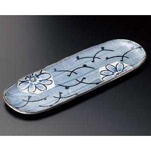 さんま皿 ごす濃色絵花33.5×11.5cm業務用|utuwayaissin
