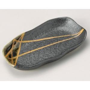 串皿 織部黄星6.0変形皿 utuwayaissin